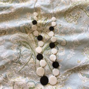 Talbots Black & White Necklace